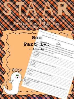 Boo Part IV-STAAR Writing Revising and Editing Passage