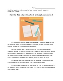 4th Grade STAAR Revising and Editing Passage Revise and Edit Short - Spelling