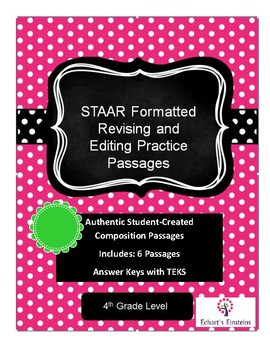 4th Grade STAAR Revising and Editing Passages by Echart's ...