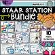 4th Grade STAAR STATION 2: FRACTIONS & DECIMALS TEKS 4.2G 4.3D Math Center