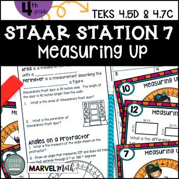 4th Grade STAAR STATION 7: PERIMETER, AREA & ANGLES TEKS 4.5D 4.7C