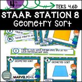 4th Grade STAAR STATION 8: GEOMETRY SORT TEKS 4.6D
