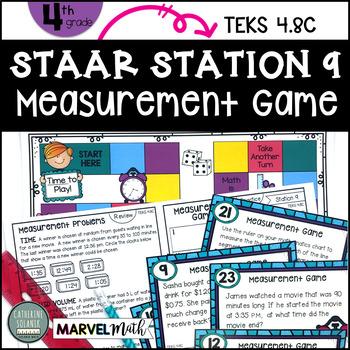 4th Grade STAAR STATION 9: MEASUREMENT GAME TEKS 4.8C