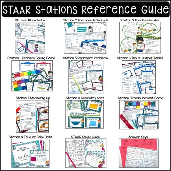 4th Grade STAAR STATION FREEBIE Representing Fractions & Decimals 4.2E 4.2H 4.3A