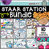 4th Grade STAAR STATIONS BUNDLE * 10 Fun & Engaging Math Centers * TEKS Aligned