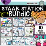 4th Grade STAAR STATIONS BUNDLE * 10 Fun & Engaging Math C