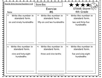 4th Grade STAAR Storm TEKS Intervention & Test Review