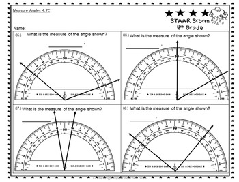4th Grade STAAR Storm Power Pack:  2 Week Quick TEKS Review