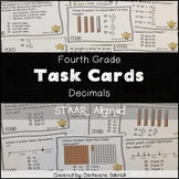 STAAR TASK CARDS 4.4A 4.2E 4.2F 4.2H 4.3G  4TH GRADE MATH DECIMALS