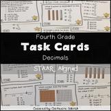 STAAR TASK CARDS 4.4A 4.2E 4.2F 4.2H 4.3G  4TH GRADE MATH DECIMALS