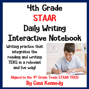 4th Grade STAAR Daily Reading & Writing Review Practice, P