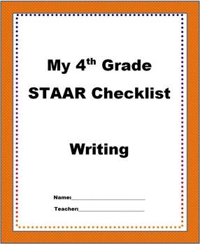 4th Grade STAAR Writing Checklist