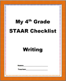 4th Grade STAAR Writing Checklist