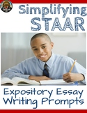 4th Grade STAAR Writing Expository Essay Writing Prompts (Texas TEKS)