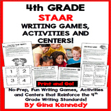 4th Grade STAAR Writing Games and Centers! Perfect for Wri