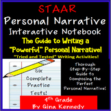 STAAR Writing Personal Narrative Interactive Notebook, Activities and Prompts!