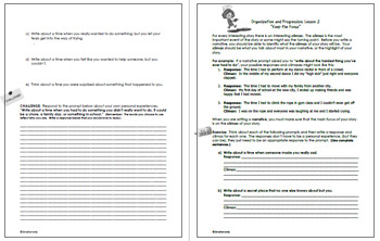 4th Grade STAAR Writing Personal Narrative Lessons, Prompts and More!