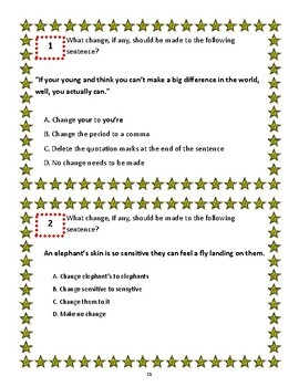 4th Grade STAAR Writing Practice Passages and Task Cards ...