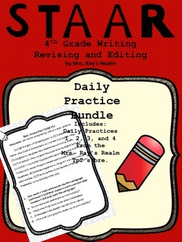 Daily Practice Bundle-STAAR Writing Revising and Editing