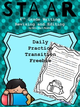 Daily Practice-Transition Freebie-STAAR Writing Revising a
