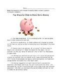 4th Grade STAAR Writing Revising and Editing Passage Revise & Edit - Make Money