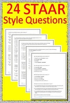 4th Grade STAAR Writing Revising and Editing Practice STAAR Test Prep + Prompts