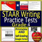 4th Grade STAAR Writing Revising & Editing Test Prep - PRINTABLE & SELF-GRADING!