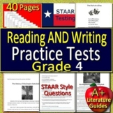 4th Grade STAAR Writing and 4th Grade STAAR Reading Practice Tests Bundle