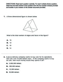 4th Grade STAAR Math 2016 Benchmark