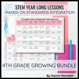 4th Grade STEM Project Ideas   Growing Year Long Bundle