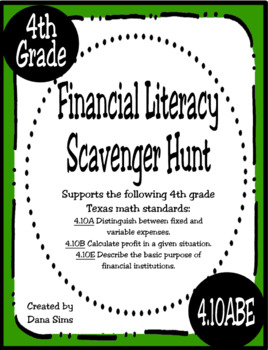 4th Grade Scavenger Hunt Bundle