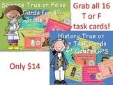4th Grade Science AND Social Studies True/False Bundle...G