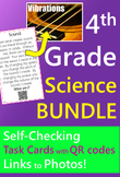4th Grade Science Task Cards with QR codes BUNDLE