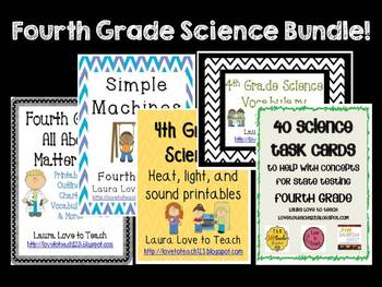 4th Grade Science Bundle