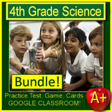 4th Grade Science Test Prep Bundle Spiral Review NGSS - Print & GOOGLE CLASSROOM