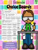 **EDITABLE**  4th Grade Science Choice Boards