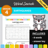 4th Grade Science - Earthquakes Word Search