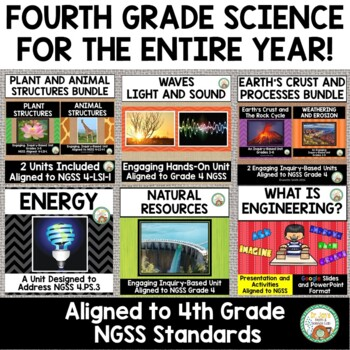 4th Grade Science Entire Year:  Next Generation Science Standards