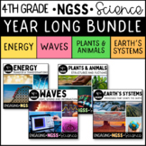 4th Grade Science Entire Year: Next Generation Science Standards { NGSS }