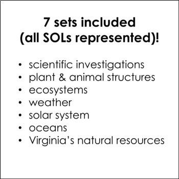 4th Grade Science Flash Cards Bundle