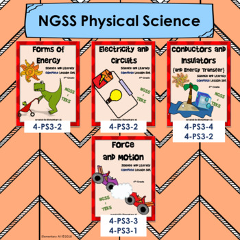 4th Grade Science Full Year NGSS Lessons Bundle