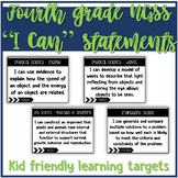 4th Grade Science I Can Statements - Kid friendly language NGSS alligned