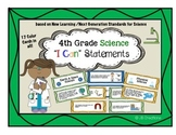 4th Grade Science I Can Statements (new learning/next generation standards)