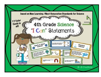 4th Grade Science I Can Statements (new learning/next gene