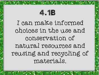 """4th Grade TEKS Science """"I can"""" Statement Posters"""