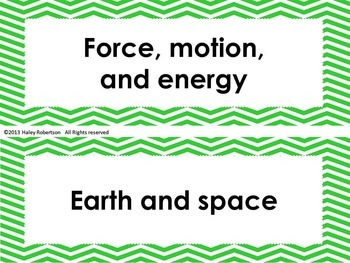 "4th Grade Science ""I can"" statements- Chevron pattern (using TEKS)"