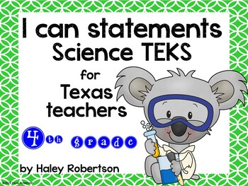 "4th Grade Science ""I can"" statements- Circle pattern (using TEKS)"