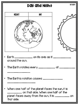 4th grade science interactive notebook space earth sun and moon. Black Bedroom Furniture Sets. Home Design Ideas