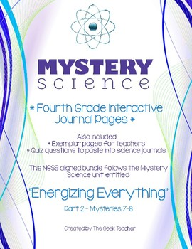 4th Grade Science Journals - Mystery Science (Energizing Everything Part 2)