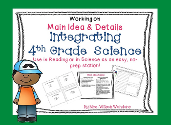 4th Grade Science & Reading Integration Task Cards